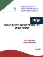 Cambio Climatico y Manejo Sustentable Del Agua
