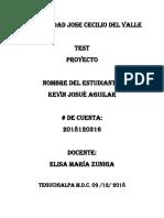 Kevin Aguilar 2018120316 Evaluacion