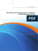 the primary years programme as a model of tl