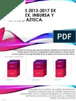 Analisis Tres Bancos Mexicanos 2013-2017