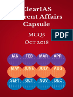 Clearias Current Affairs Capsule Oct 2018