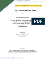 Social Work Social Welfare and American Society 8th Edition Popple Test Bank