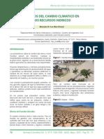 Efectos Del Cambio Climatico en Los Recursos Hidricos
