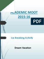Academic Moot Presentation