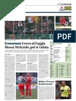 La Provincia Di Cremona 18-01-2019 - Cremonese