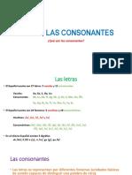 Uso de Las Consonantes