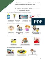 Cuestionario de Conocimientos 2016 Para Niños y Niñas Pec i