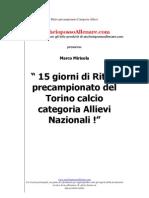 Ritiro Pre to Torino Calcio Allievi