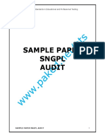 SNGPL Sample Paper Audit