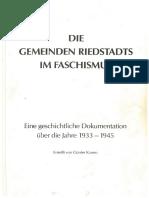 Die Gemeinden Riedstadts Im Faschismus - Kamm 1987