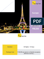 Europe Holiday Packages - 9 Nights/10 days
