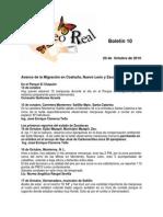 Boletin 10 de correo real de las Mariposas Monarca. Temporada 2010-2011