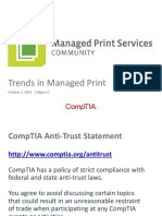 Slide Deck Trends in Managed Print 2014
