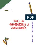 Las organizaciones y la administracion