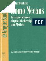 Burkert, Homo Necans. Interpretationen Altgriechischer Opferriten Und Mythen. 2. Um Ein Nachwort Erweiterte Auflage, De Gruyter 1997