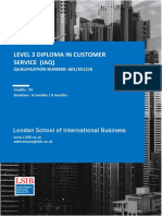 Level 3 Diploma in Customer Service