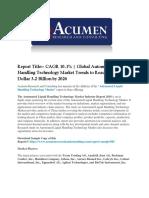 Automated Liquid Handling Technology Market