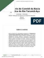 1º Seminário Do Comitê Da Bacia Hidrográfica Do Rio Tarumã-Açu
