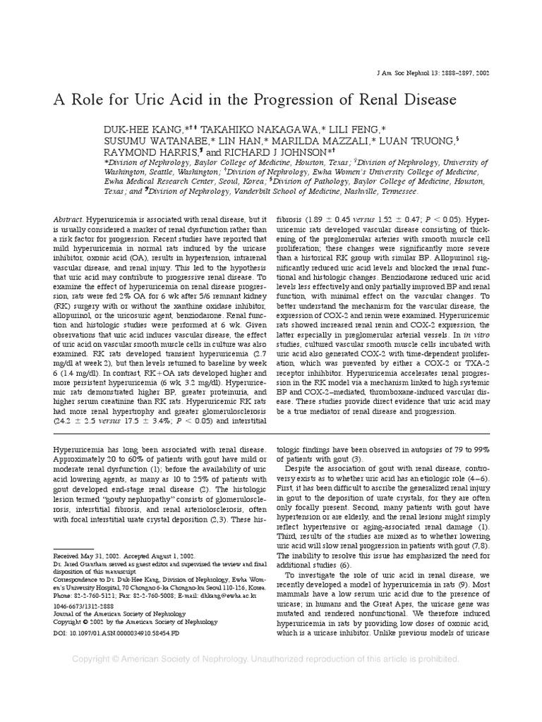 REF16 pdf | Gout | Kidney Disease