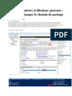 Cluster Windows Et Fileshare Quorum