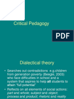 ED618 Critical Pedagogy Terms and Examples