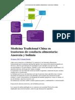 Medicina tradicional china en trastornos de la conducta alimentaria