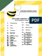 List of Words Sixth Grade 2018