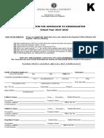 KINDER Application Form SY 2019-2020