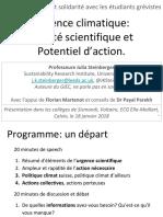 Présentation aux étudiants grévistes à Genève