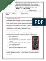 Multimetro y Osciloscopio