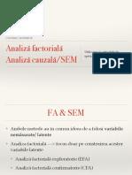 Analiza Factoriala SEM