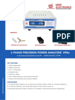 1-Phase Precision Power Analyzer VPAe 2018