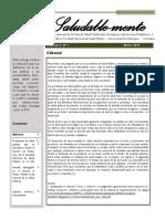 Boletín 1. volumen 2 de 2019. Mesa de salud mental de la FNSP de la UdeA
