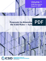 Proposals for Amendments of ICSID Rules - Synopsis
