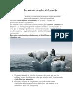 Cuáles Son Las Consecuencias Del Cambio Climático