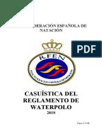 Casuística del reglamento Waterpolo (actualizada abril 2018)