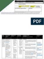forward planning document week 5