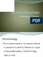 Course 11 Standardization