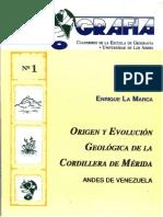 Origen y Evolución Geológica de Cordillera Mérida