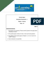 9th Science SA1 PracticePaper3 QAndS