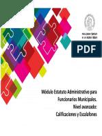 44 Estatuto Administrativo Municipales Avanzado Calificaciones y Escalafones.ppt