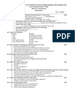 11th Commerce Questiona Paper