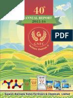 GNFC Annual Report 2015-16