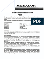 Monacor FSI-5 Manual German