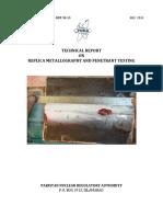 Replica Metallography and Penetrant Testing