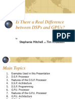 Is There a Real Difference Between DSPs And GPUs
