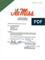 Ole Miss-MTSU Contract Addendum