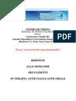 Risposte Alle Domande Dei Pazienti in Terapia Anticoagulante Orale Volumetto