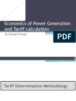 Economincs of Power Generation and Tarifff Calculations