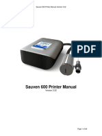 Operation manual  Sauven 600